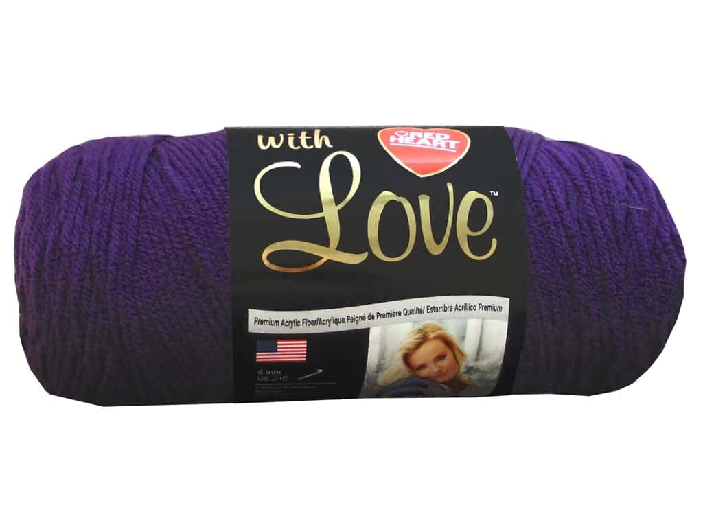 Red Heart With Love Yarn 370 yd. #1542 Aubergine