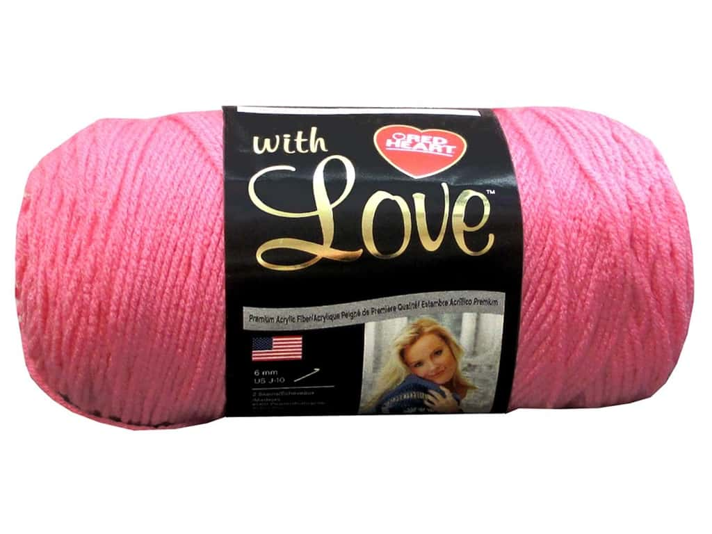 Red Heart With Love Yarn 370 yd. #1704 Bubblegum