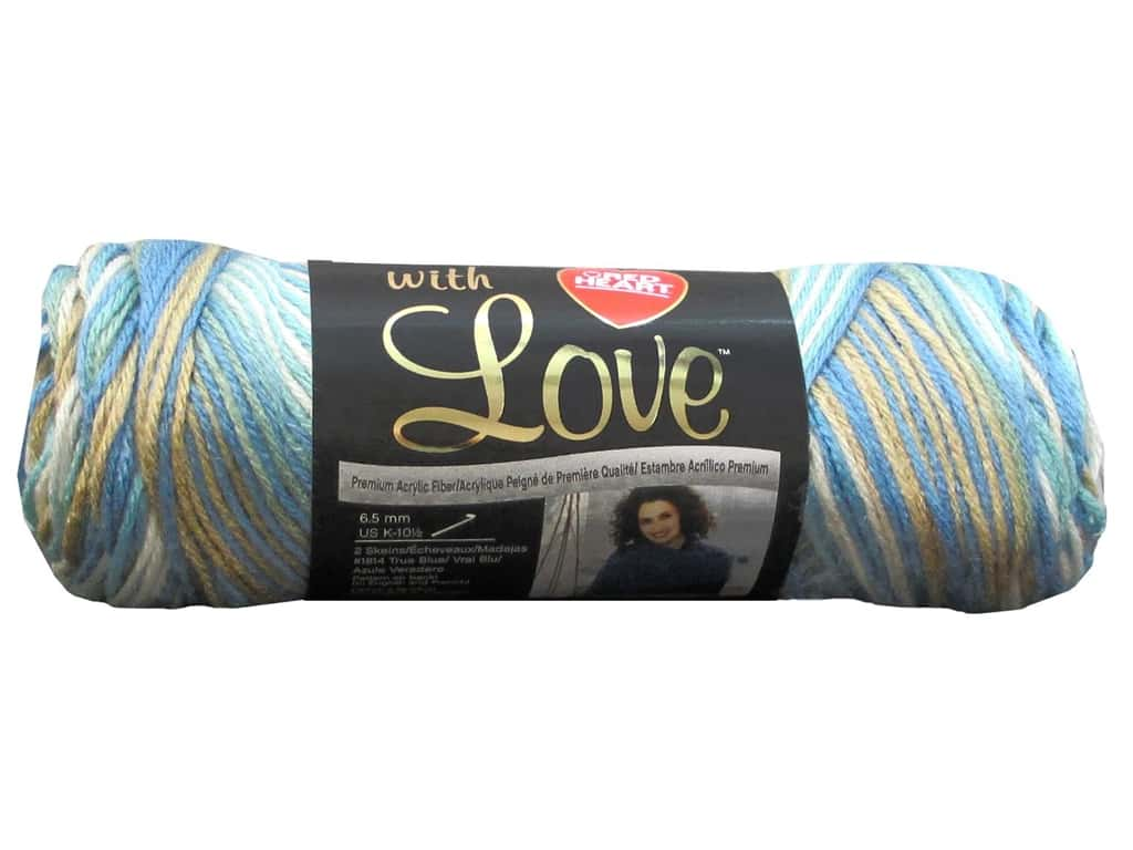 Red Heart With Love Yarn 230 yd. #1938 Beachy