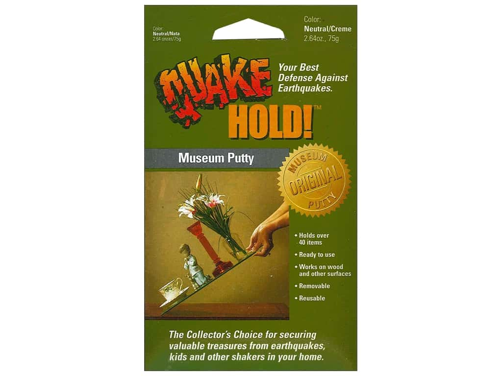 Quake Hold Museum Putty 2.64 oz Neutral/Creme