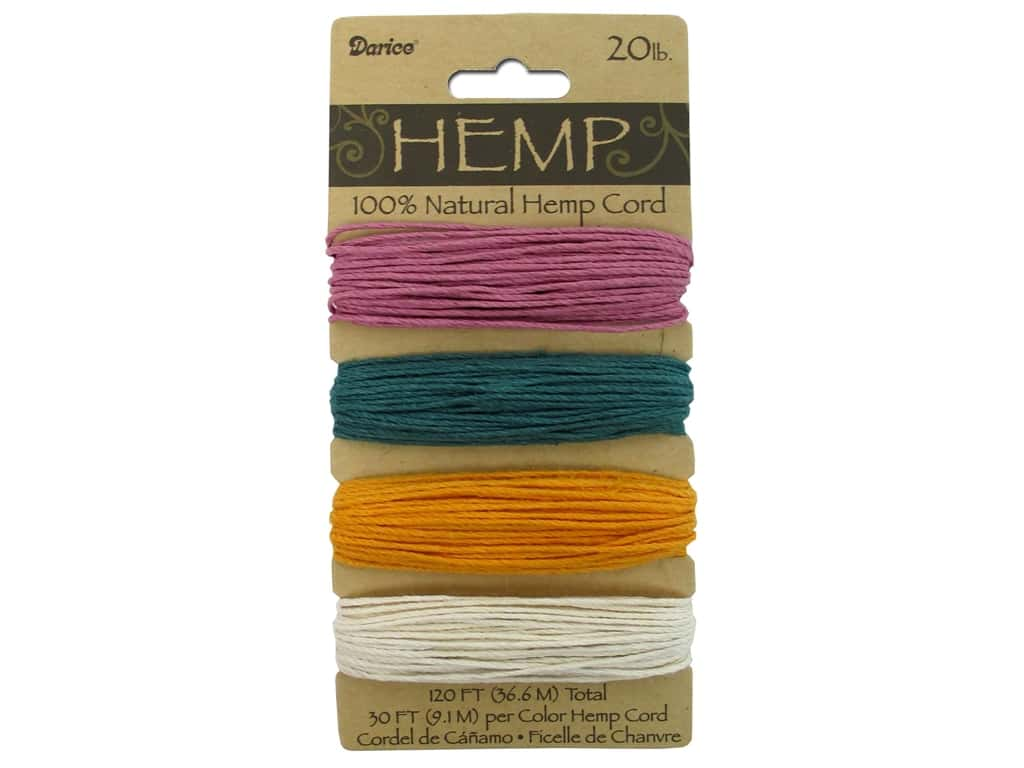 Darice Hemp Cord Set 4 pc. 30 lb. Spring Colors