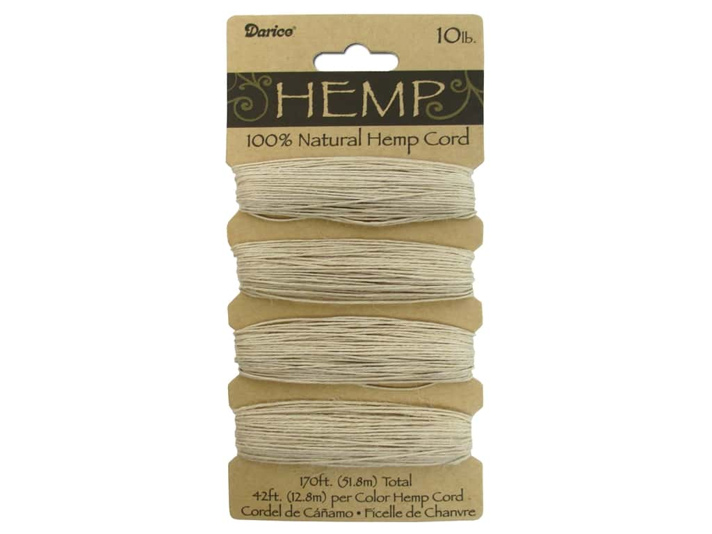 Darice Hemp Cord Set 4 pc. 10 lb. Natural