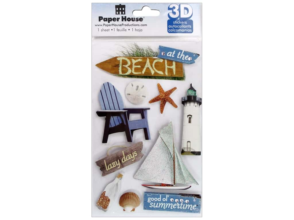 Paper House 3D Stickers - Beach
