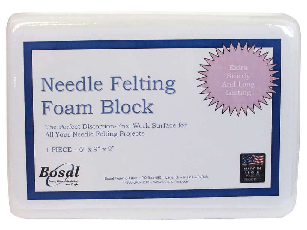 Bosal Needle Felting Foam Block 9 x 6 x 2 in.