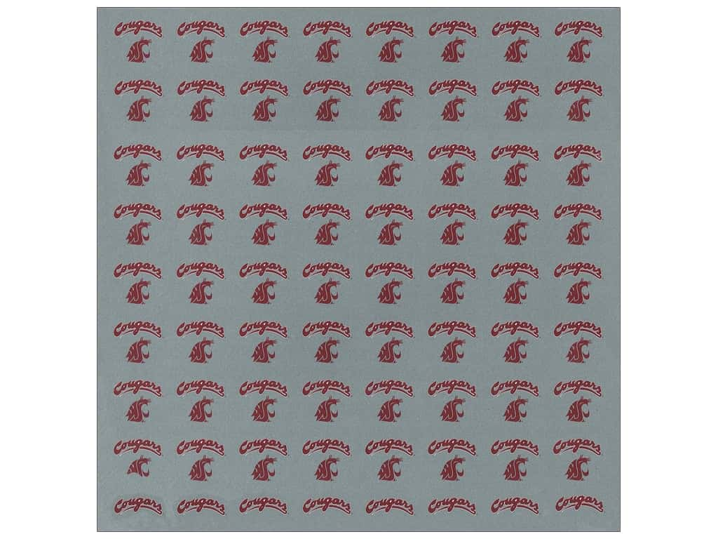 """Sports Solution Paper 12""""x 12"""" Washington State Grey (25 sheets)"""