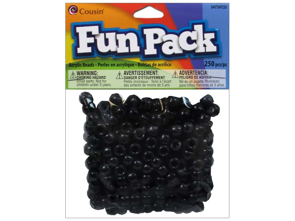 Cousin Fun Pack Pony Beads 250 pc. Black