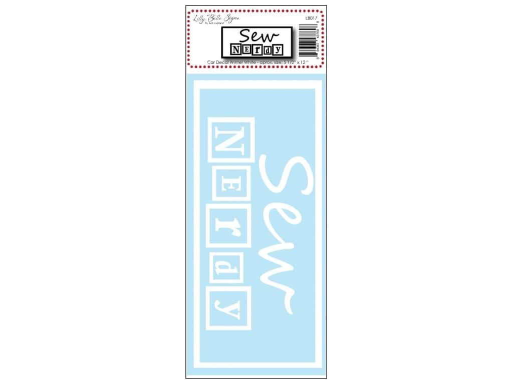 Kati Cupcake Lilly Belle Signs Decal Sew Nerdy Car Winter White