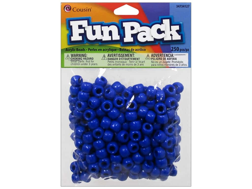 Cousin Fun Pack Pony Beads 250 pc. Blue