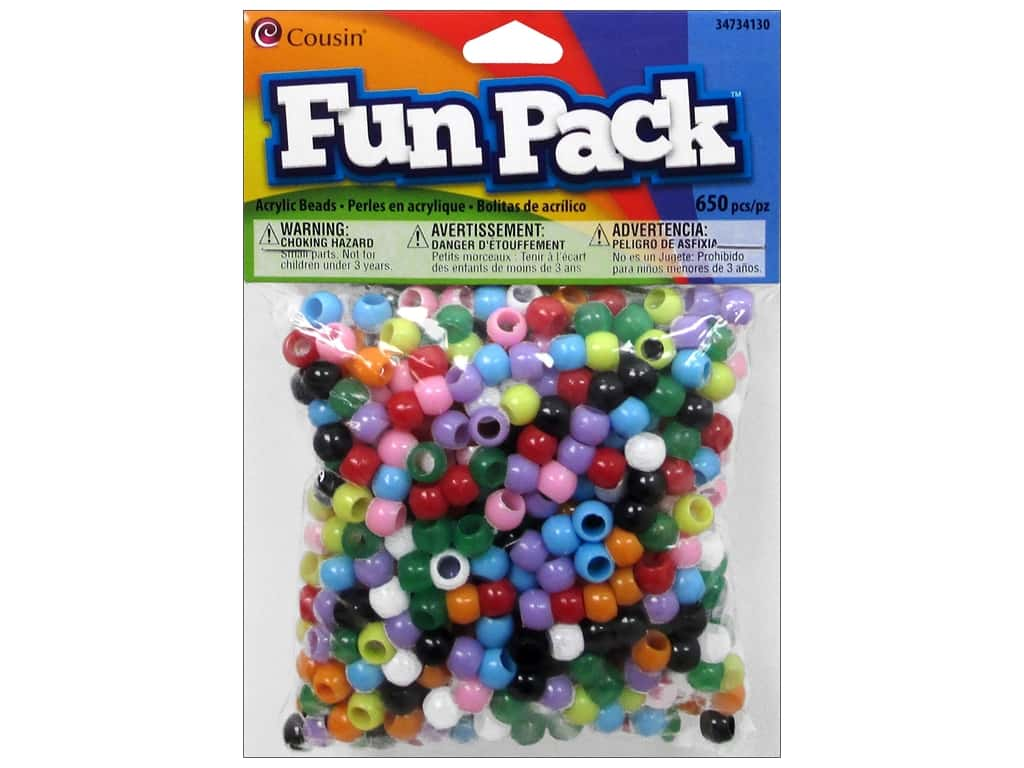 Cousin Fun Pack Mini Pony Beads 650 pc. Multi Mix