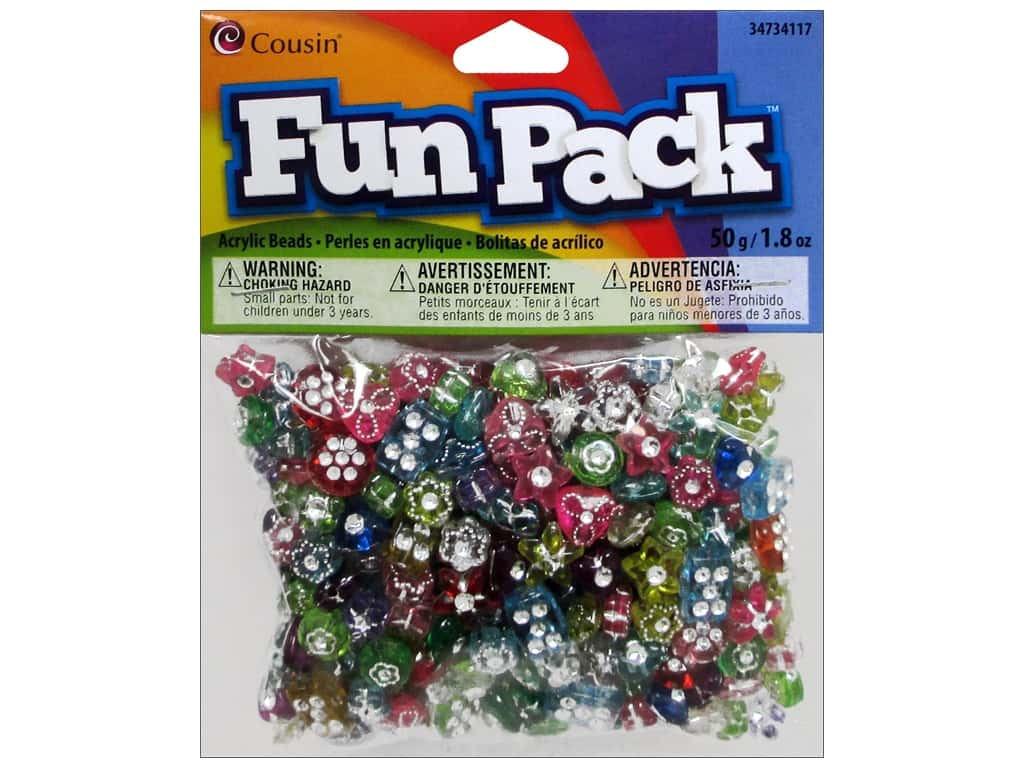 Cousin Fun Pack Diamond Beads 1.8 oz. Assorted