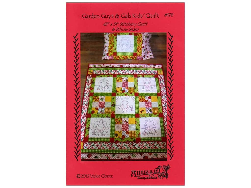 Annie's Keepsakes Garden Guys & Gals Kids Quilt Pattern
