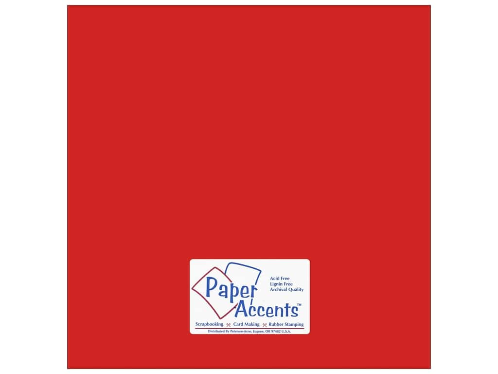 Paper Accents Cardstock 12 x 12 in. #18003 Smooth Red Devil (25 sheets)