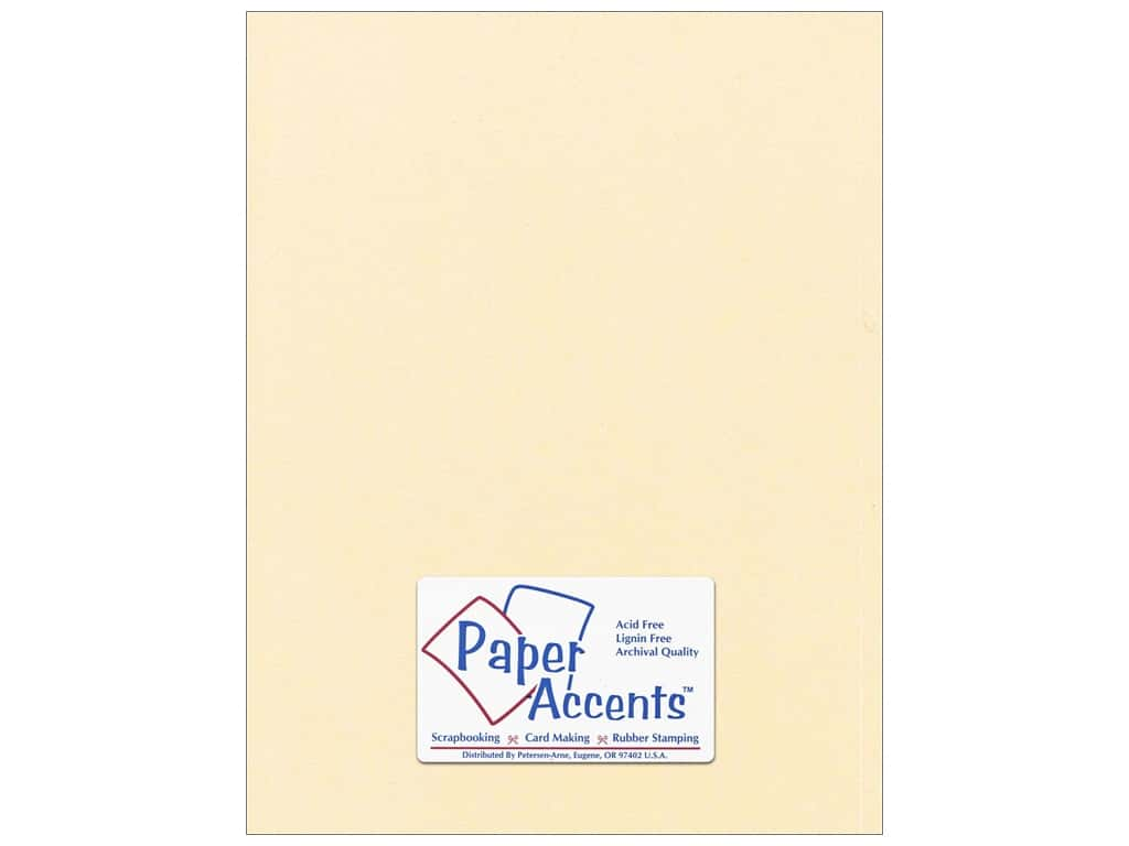 Paper Accents Cardstock 8 1/2 x 11 in. #869C Pearlized Cornsilk 25 pc.