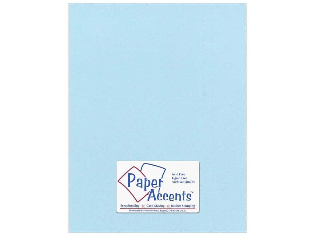 Paper Accents Cardstock 8 1/2 x 11 in. #8841C Pearlized Powder Blue 25 pc.