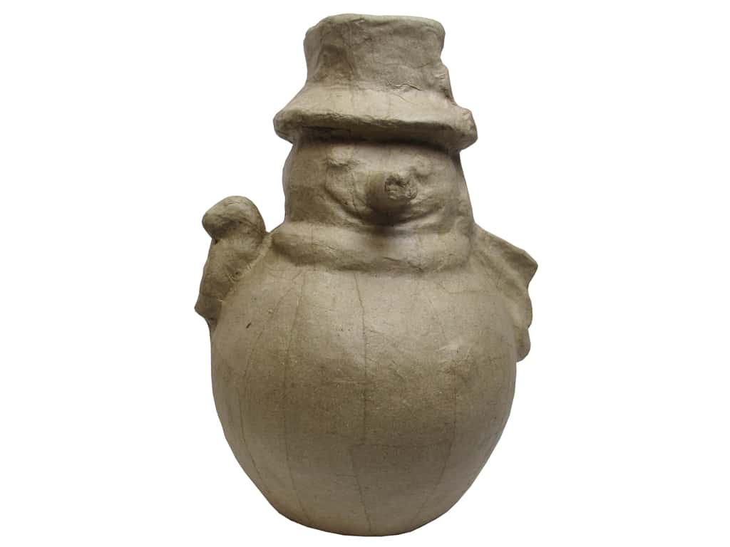PA Paper Mache Fat Snowman 12 in.