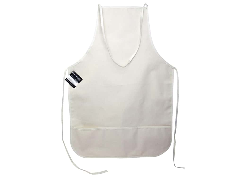Mark Richards Canvas Apron with Pockets 19 x 28 in. Natural