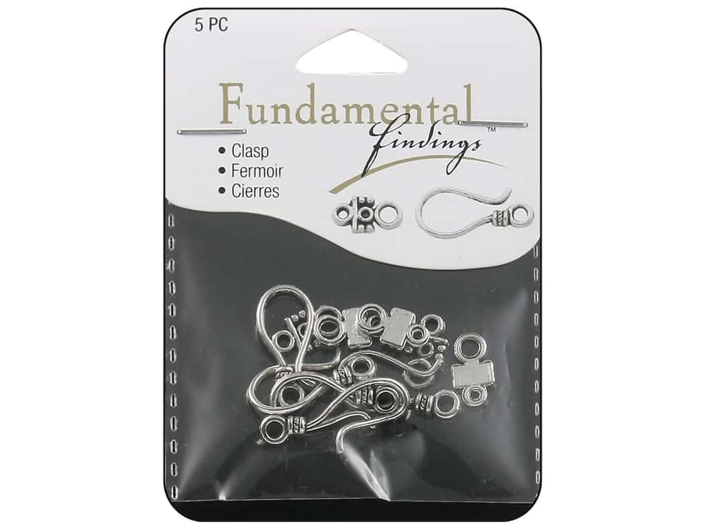 Sweet Beads Fundamental Finding Hook Clasp 24 mm Silver 5pc