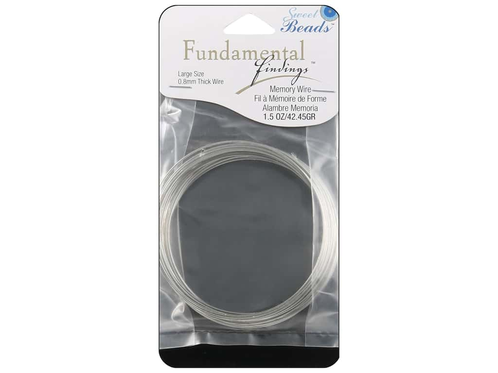 Sweet Beads Fundamental Finding Memory Wire .8 mm Large 1.5 oz