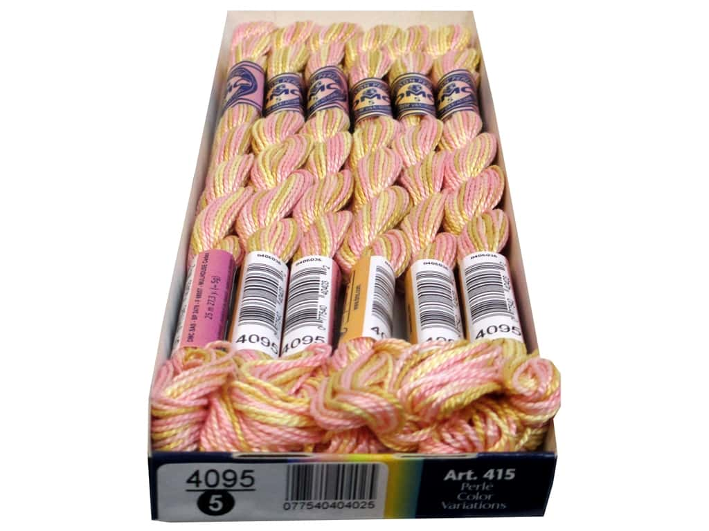 DMC Pearl Cotton Variations Size 5 #4095 Cupcake (6 skeins)