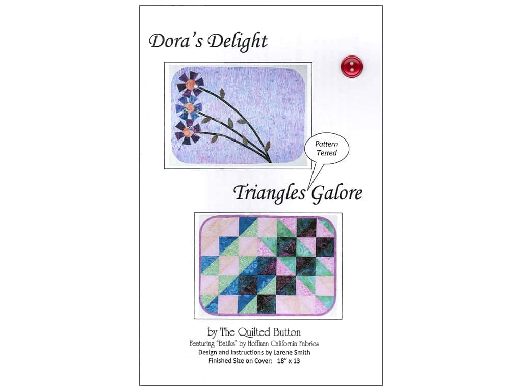 Quilted Button Dora's Delight/Triangle Galore Pattern