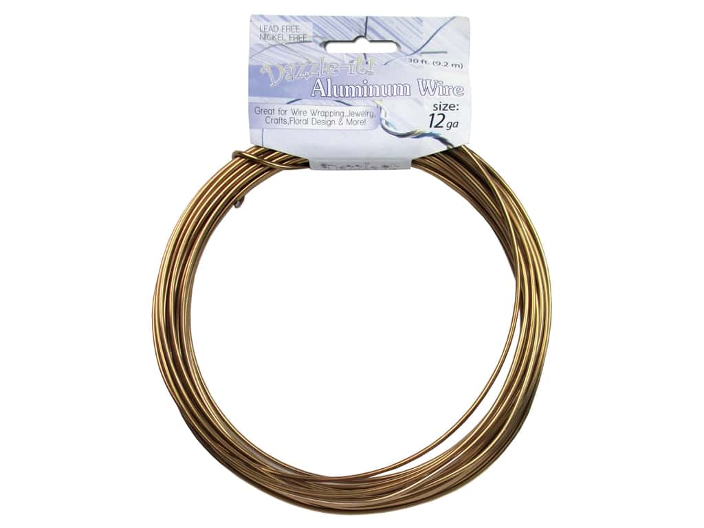 Dazzle It Aluminum Wire 12 ga. 30 ft. Round Copper