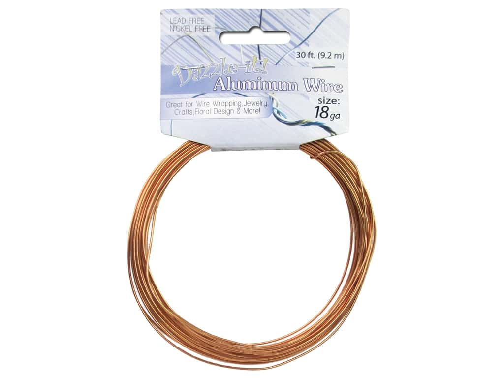 Dazzle It Aluminum Wire 18 ga. 30 ft. Round Light Copper