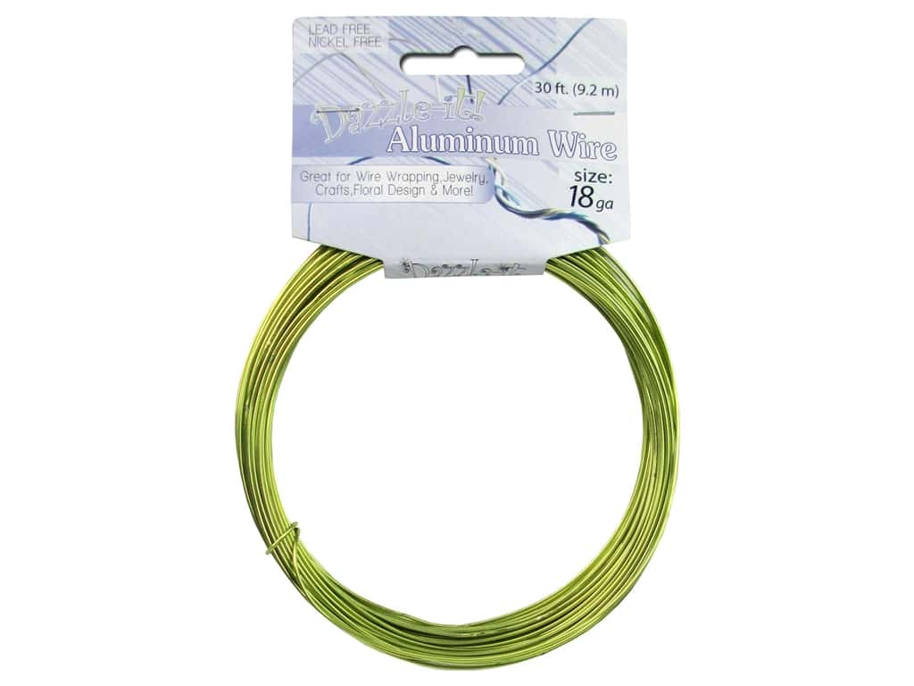 Dazzle It Aluminum Wire 12 ga. 30 ft. Round Green Apple