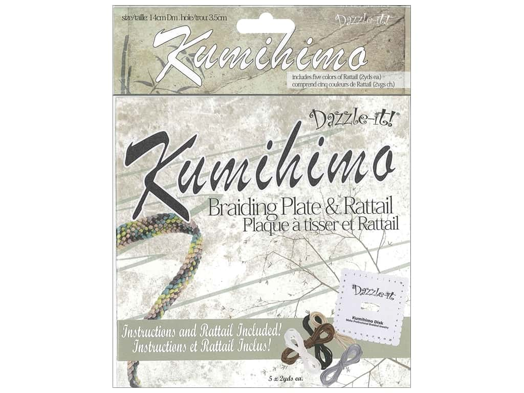 """Dazzle It Kumihimo Braiding Disk & RattailSquare 5.5"""""""