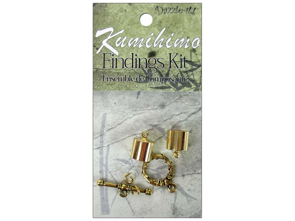 Dazzle It Kumihimo Finding Kit 10 mm Gold