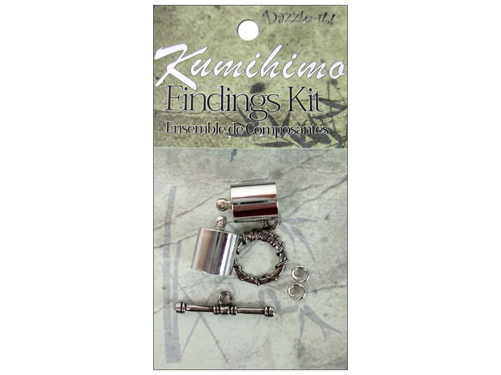 Dazzle It Kumihimo Finding Kit 10 mm Silver