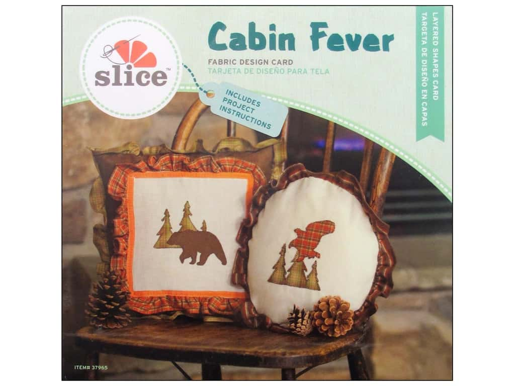 Slice Fabric Design Card Cabin Fever