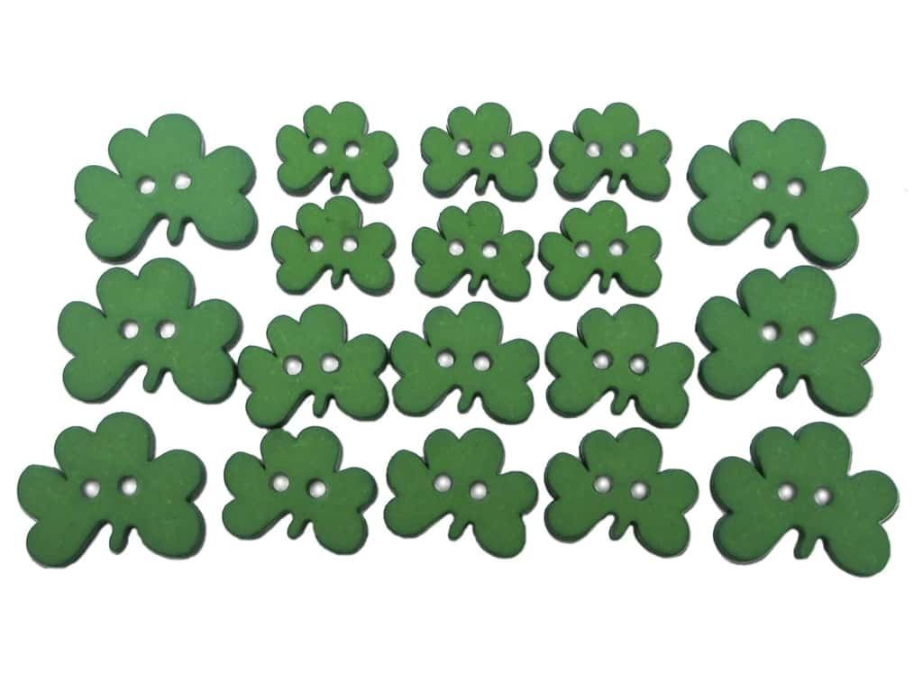 Jesse James Dress It Up Embellishments Button Fun Shamrocks
