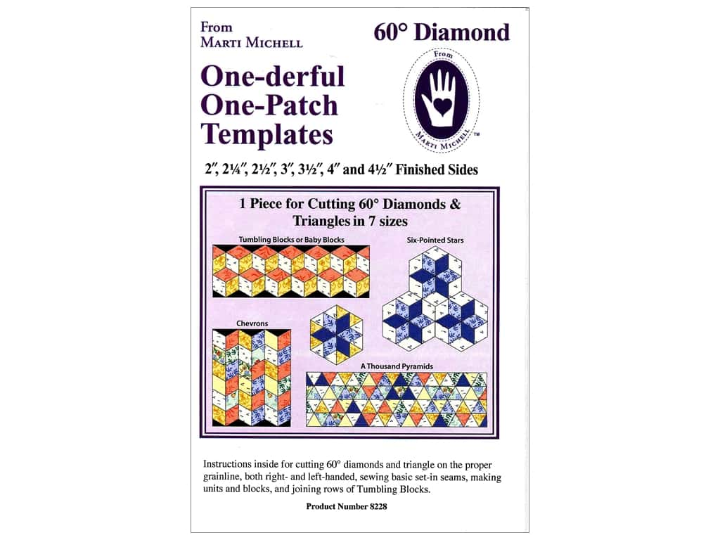 Marti Michell One-derful One-Patch Templates - 60-Degree Diamond