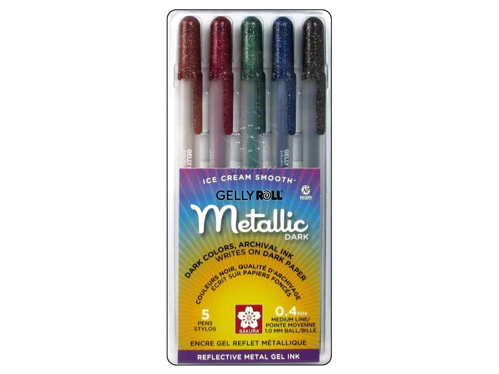 Sakura Gelly Roll Metallic Pen Set Dark 5 pc