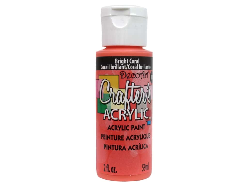 DecoArt Crafter's Acrylic Paint 2 oz. Bright Coral