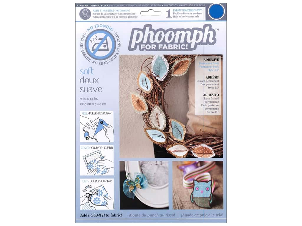 Phoomph For Fabric Soft 9 x 12 in. Blue by Coats & Clark