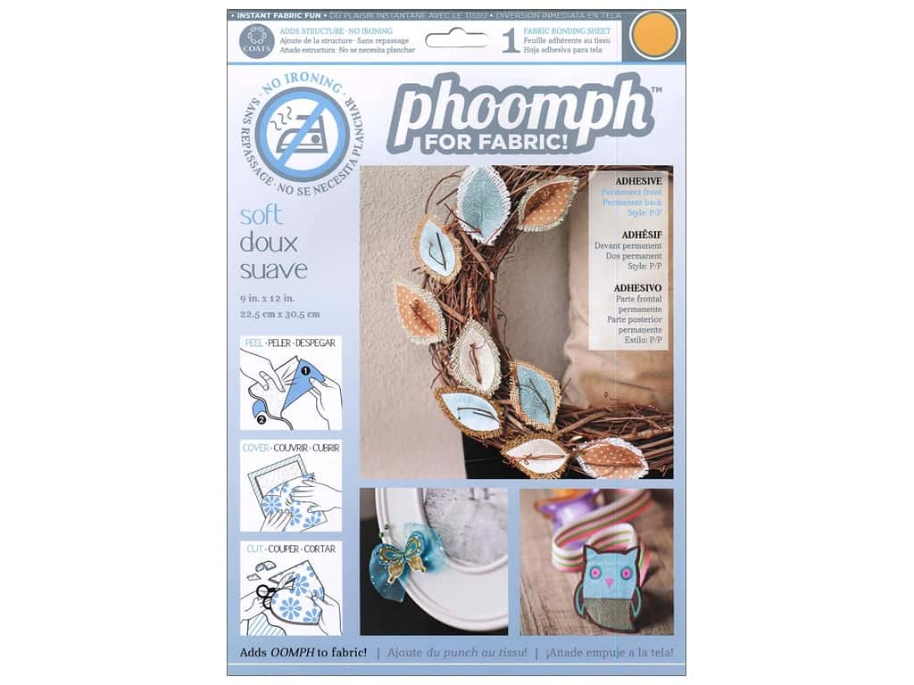 Phoomph For Fabric Soft 9 x 12 in. Orange by Coats & Clark