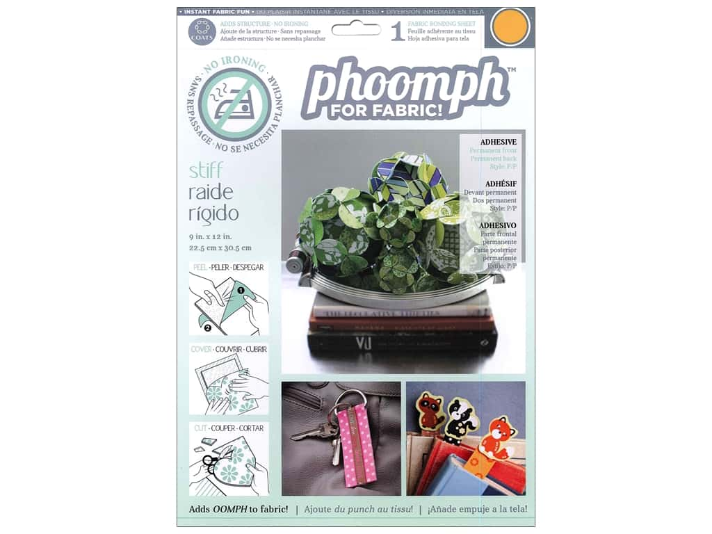 Phoomph For Fabric Stiff 9 x 12 in. Orange by Coats & Clark