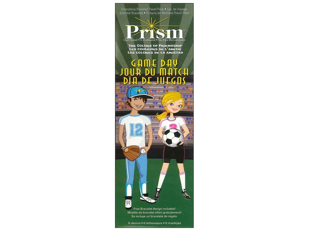 Prism Mini Craft Thread Pack 6 pc. Game Day