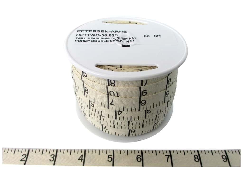 Printed Twill Tape by Cheep Trims Measuring Tape Horitzontal Inches Natural (50 yards)