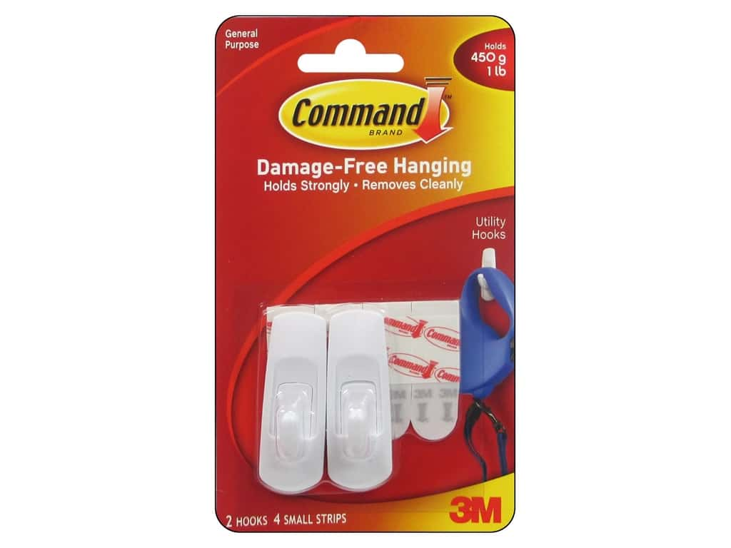 Command Adhesive Hook Small 2 pc