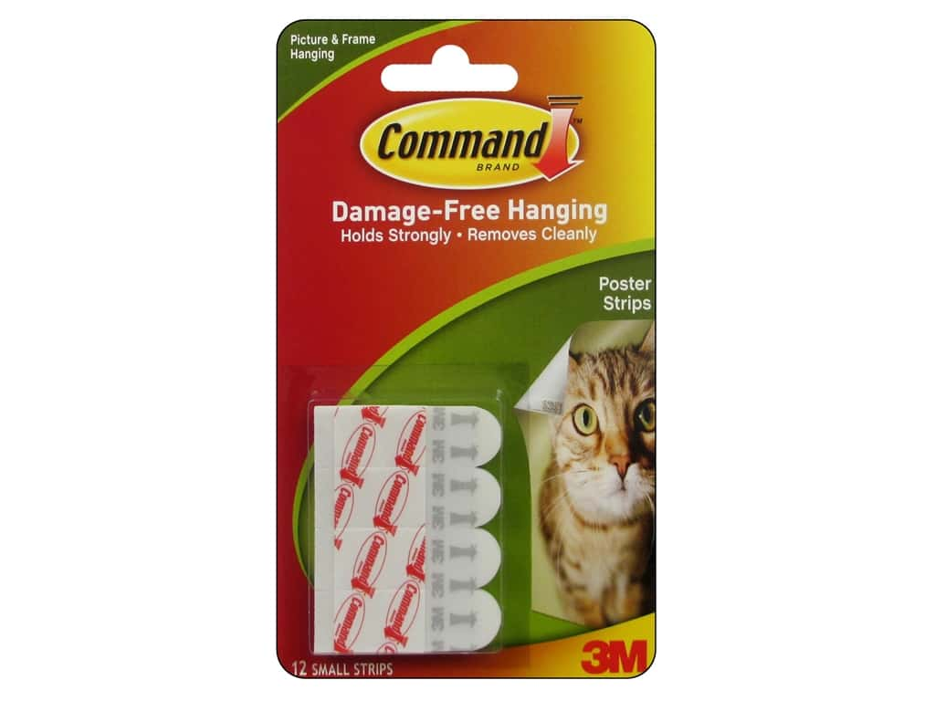 Command Adhesive Replacement Poster Strips 12 pc