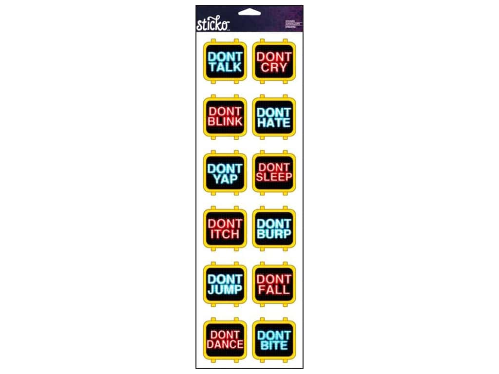 Sticko Stickers - Don't Talk Labels