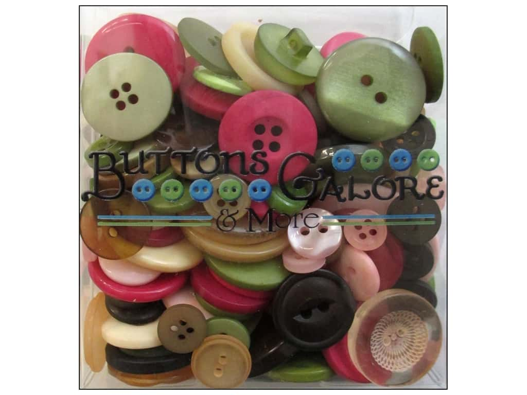 Buttons Galore Button Totes 3.5 oz. Rose Garden