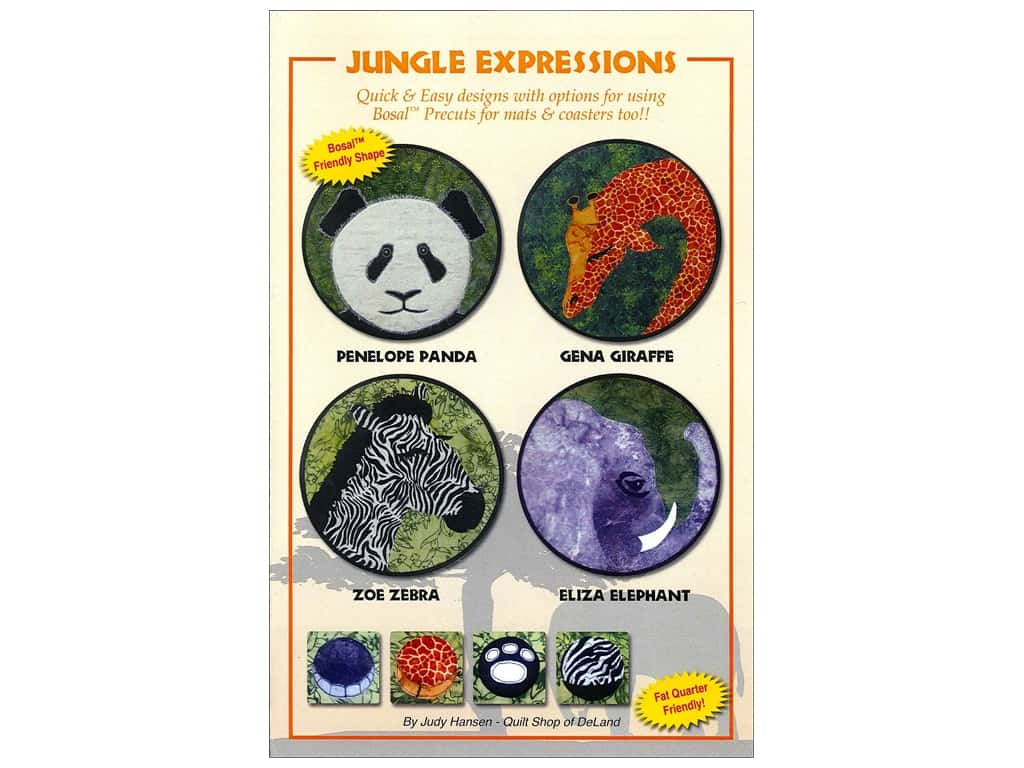 Quilt Shop of DeLand Jungle Expressions Pattern by Judy Hansen