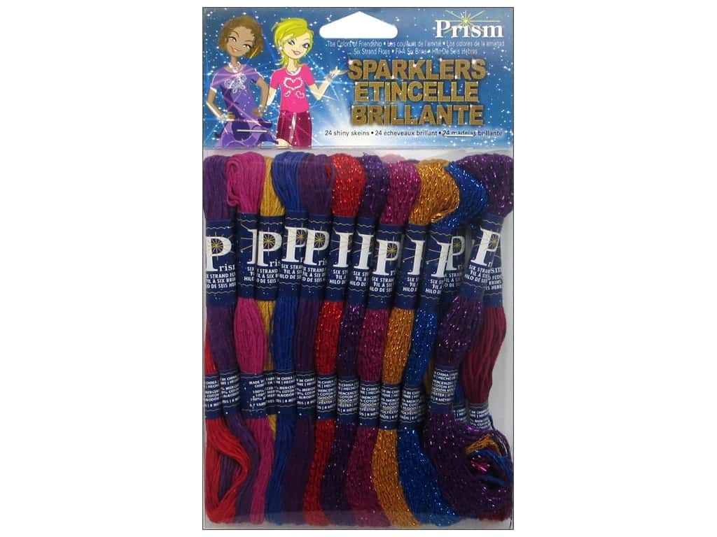 Prism Floss Pack Six Strand Sparklers 24 pc