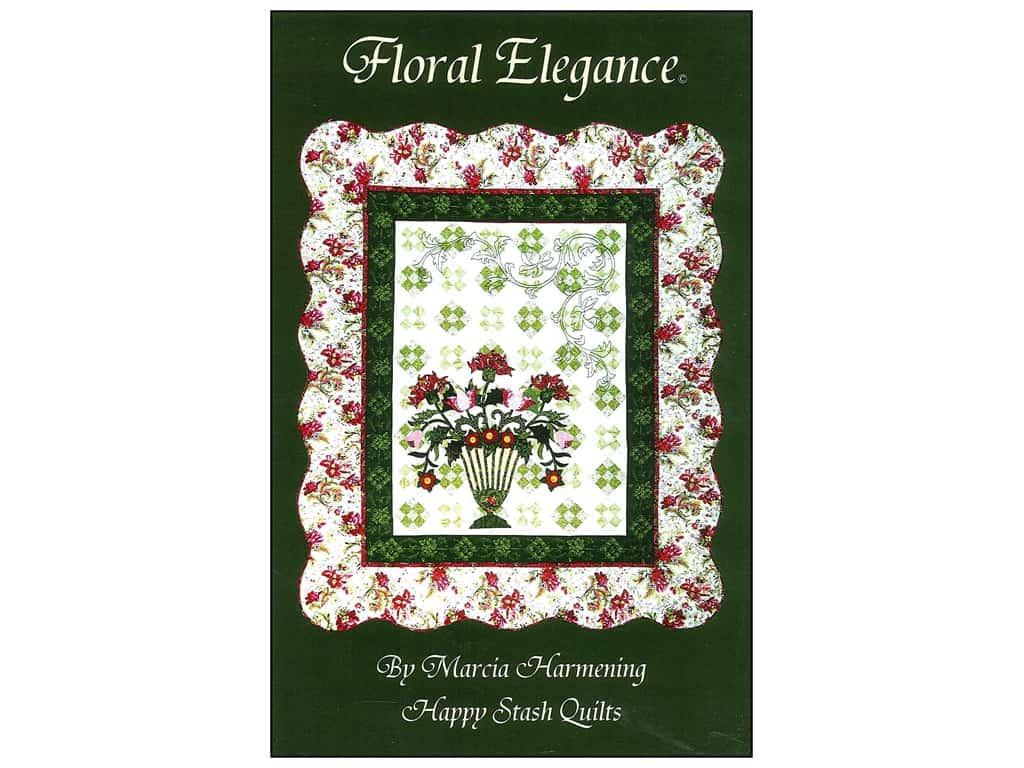 Happy Stash Quilts Floral Elegance Pattern by Marcia Harmening