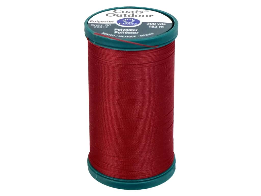 Coats Outdoor Living Thread - #39A Red Cherry 200 yd.