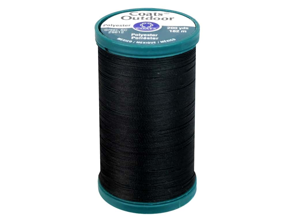 Coats Outdoor Living Thread 200 yd. #2 Black