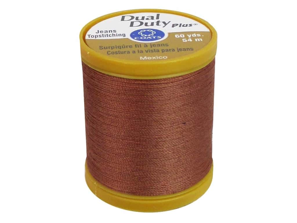 Coats Dual Duty Plus Jeans Topstitching Polyester Thread 60 yd. Red Clay